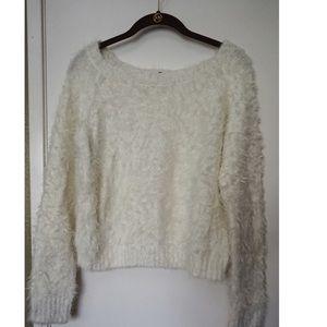 Oversized fuzzy cozy sweater